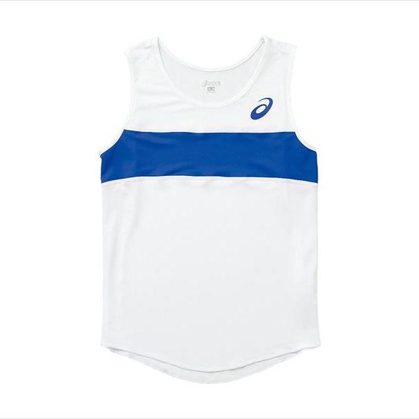 [asics]アシックス レディース陸上ウェアW'Sランニングシャツ(XT2035)(0145)ホワイト×ブルー