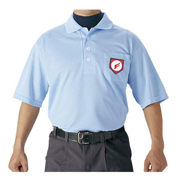 野球 高校野球 日本少年野球連盟 ボーイズリーグ 全日本少年硬式野球連盟 ヤングリーグ 審判用ウェア パウダーブルー 卸直営 エスエスケイ ※商品にマークはついておりません 審判用半袖ポロシャツ 即納送料無料! 65 UPW027