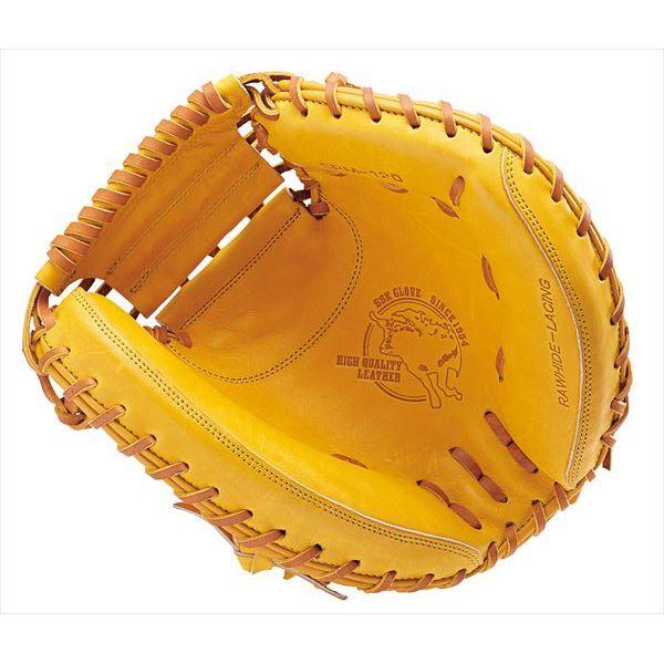 エスエスケイ野球 硬式用グラブ 特選ミット捕手用 SPM120・3747 ライトオレンジ×タン