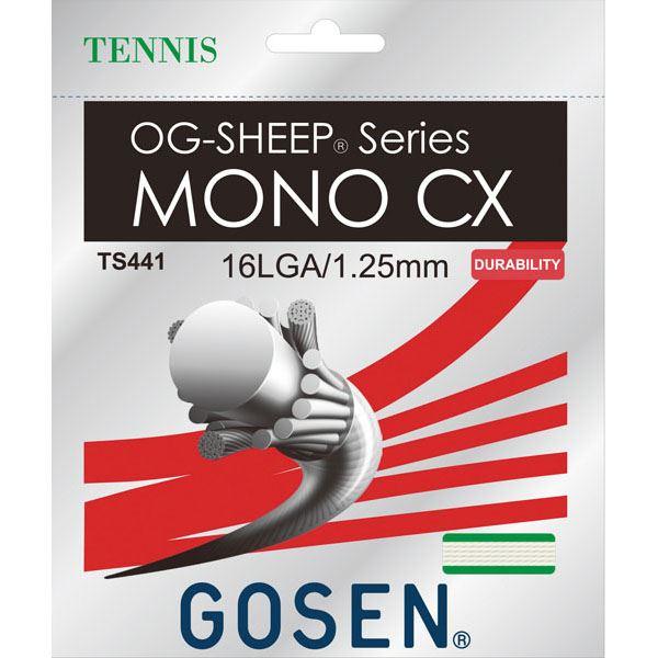 ゴーセン2018モデル メール便可 ゴーセン 硬式テニスガット ディスカウント OG-SHEEP ランキングTOP10 W TS441 ホワイト モノCX 16L