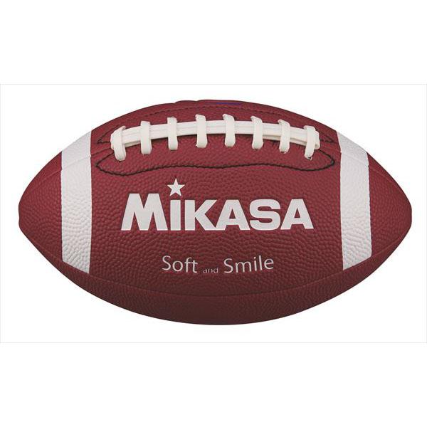 ボールメーカーMIKASA ミカサ フラッグフットボール FFN-BR ◆セール特価品◆ ブラウン 信頼 ソフトレザー