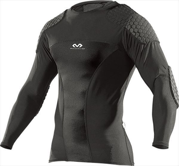 [返品交換不可] マクダビッド HEXゴールキーパーシャツ ロング M7738・BK ブラック