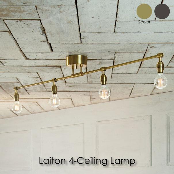 【ポイント最大33倍!16日1:59まで】【送料無料】ARTWORKSTUDIO Laiton 4-ceiling lamp シーリングライト ビンテージ インダストリアル 照明 ダイニング 北欧 レトロ モダン LED ブラック ゴールド 240W
