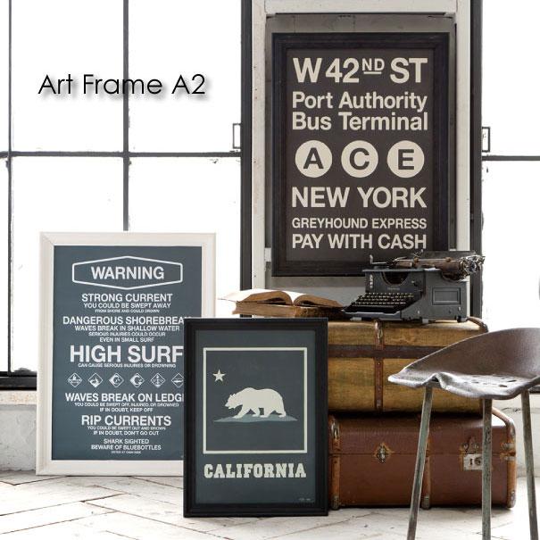 【ポイント最大33倍!16日1:59まで】【送料無料】ARTWORK STUDIO Art Frame A2 アートフレーム 額縁 木 ウッド 木製 ブラック 黒 白 ホワイト フェイクフレーム インダストリアル アンティーク ブルックリン インテリア ブルックリン 置物