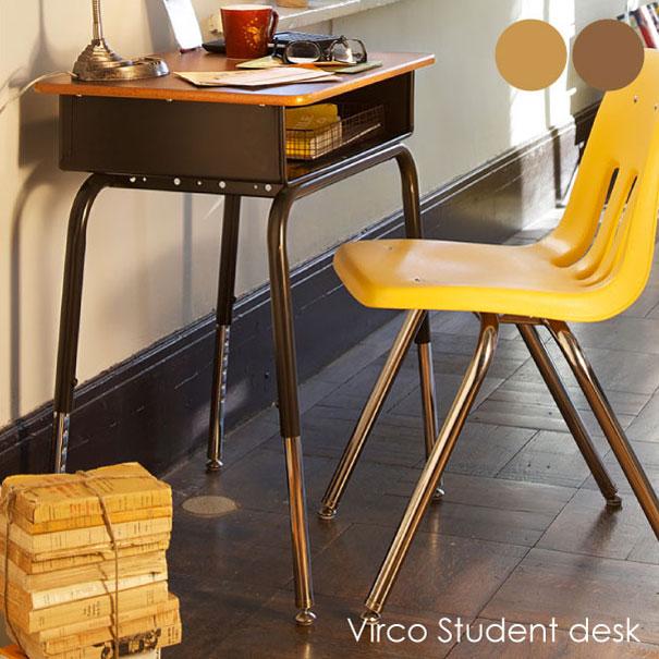 【ポイント最大33倍!16日1:59まで】【送料無料】VIRCO Student desk オーク ウォールナット スチューデントデスク テーブル 鉄脚 木製