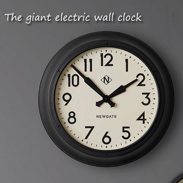 【ポイント最大32倍!9日 1:59まで】【送料無料】NEW GATE The giant electric wall clock 時計 壁掛け アンティーク おしゃれ 雑貨 巨大 インテリア インダストリアル ブラック 黒 贈り物 TR-4314