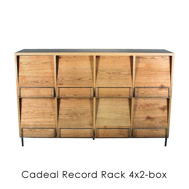 【ポイント最大33倍!16日1:59まで】【4月中旬入荷分予約受付中】【送料無料】a depeche cadeal record rack 4x2-box ディスプレイラック アイアン おしゃれ インダストリアル 無垢 オーク モダン 鉄 木製 ウッド 完成品 木 CDL-RDR-4X2