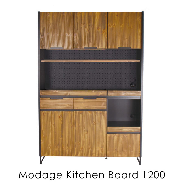 \キャッシュレス5%還元/ 【3月上旬頃入荷分予約受付中】 a depeche modage kitchen board 1200 120 アイアン 無垢 モダン 鉄 木製 ウッド 完成品 木 MDG-KTB-1200