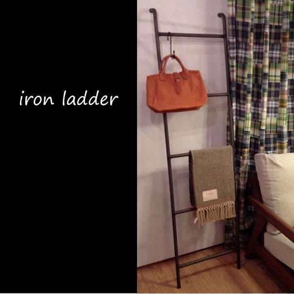 【即納】ラダーシェルフ アイアンラダー a. depeche iron ladder 壁掛け 立てかけ 収納 隙間 壁面収納 小物収納 シャビーシック アンティーク アイアン 鉄 錆 サビ