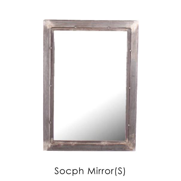 【ポイント最大33倍!26日1:59まで】【送料無料】a depeche socph mirror (S) 玄関 立て掛け 姿見 ベッドサイド ディスプレイ ダイニング おしゃれ 無垢 アイアン 鉄 スチール インダストリアル シャビーシック 錆 サビ ミラー 鏡