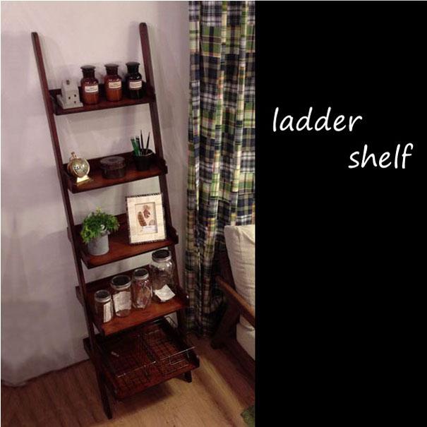 【ポイント最大32倍!9日 1:59まで】【8月下旬入荷分予約受付】 a depeche. ladder shelf brown M ラダーシェルフ 壁掛け 立てかけ 収納 本棚 シャビーシック アンティーク 木製 ウッド はしご カリフォルニア 西海岸