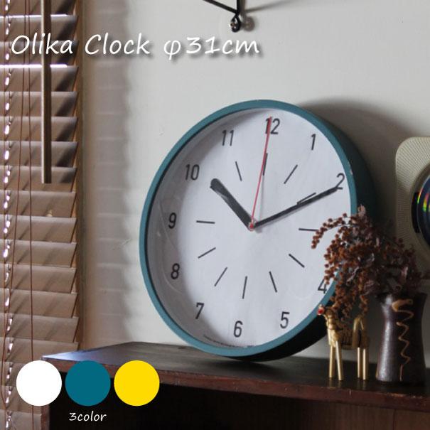 【ポイント最大27倍!7日9:59まで】\キャッシュレス5%還元/ メルクロス BRID Olika Clock φ31cm 時計 壁掛け アンティーク おしゃれ 雑貨 インテリア 北欧 ナチュラル ホワイト ブルー イエロー 贈り物 ウッド 木 003154