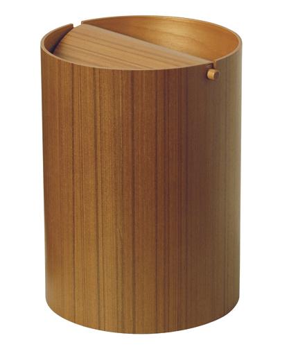 【ポイント最大27倍!7日9:59まで】\キャッシュレス5%還元/ サイトーウッド ペーパーバスケット ゴミ箱 チーク No.952TA teak grain
