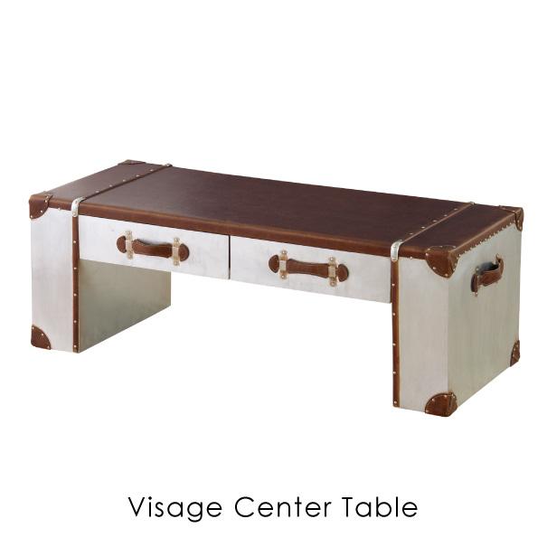 【ポイント最大33倍!16日1:59まで】【送料無料】Visage center table 120 ビサージ センターテーブル リビングテーブル ローテーブル トランク アンティーク デザイン ブラウン シンプル かわいい おしゃれ 家具