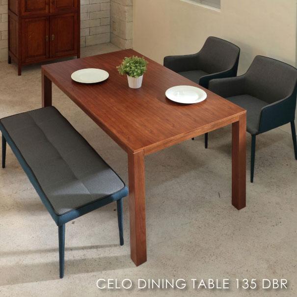 \ポイント最大10倍!26日1:59まで/CELO DINING TABLE DBR セロダイニングテーブル ダークブラウン 4人用 アンティーク 小さい 小さめ 130 140 コンパクト 脚 おうちカフェ 家具 おしゃれ 可愛い 北欧 ウォールナット TDT-1340