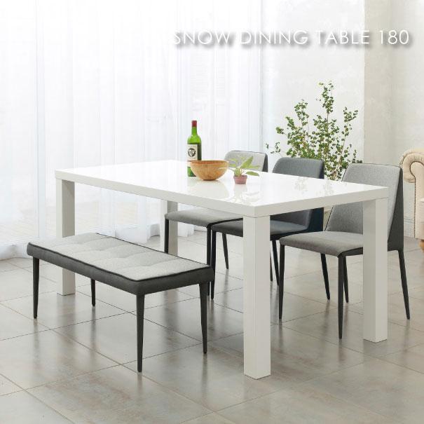 \ポイント最大10倍!26日1:59まで/SNOW DINING TABLE 180 スノーダイニングテーブル 6人掛け アンティーク 白 ホワイト 脚 おうちカフェ 家具 おしゃれ 可愛い 北欧 アイアン TDT-1361