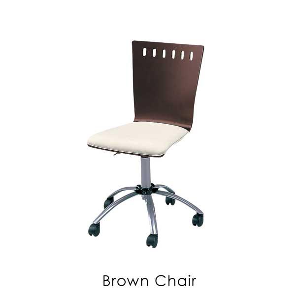 【ポイント最大33倍!16日1:59まで】【送料無料】Brown Chair チェア 椅子 イス ウッド 木 木製 背もたれ キャスター 車輪 高さ 調整 調節 ダーク ブラウン 茶 アンティーク レトロ 北欧 オシャレ ナチュラル シンプル パソコン