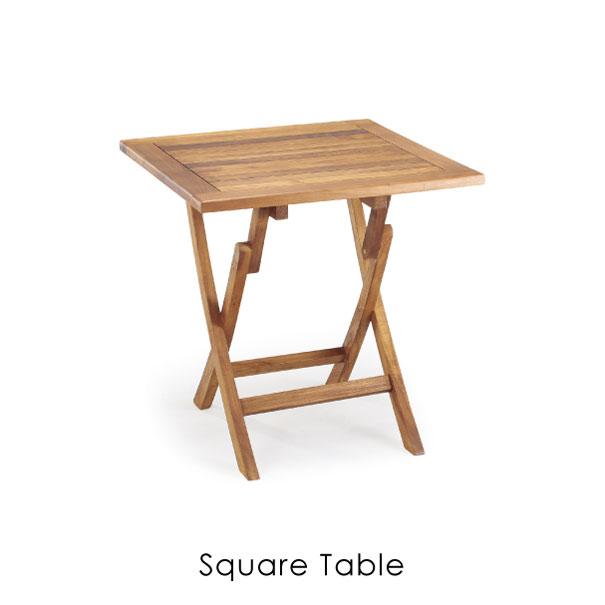 【ポイント最大34倍!16日1:59まで】\キャッシュレス5%還元/ 【送料無料】スクウェアテーブル チーク アウトドア エクステリア 屋外 テーブル ガーデン アンティーク 折りたたみ コンパクト ウッド 木 木製 レトロ ナチュラル