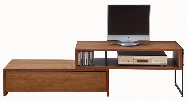 anthem TV Board アンセムテレビボード スライド式 テレビ台 ウォールナット ブラウン 伸縮テレビ台 32型 37型 42型 シンプル モダン 茶 収納 家具 木 木製 TVボード ANK-2392BR