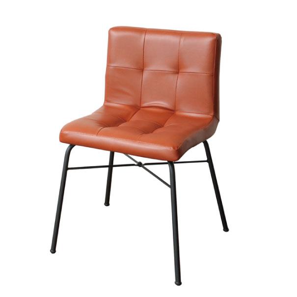 【ポイント最大27倍!7日9:59まで】\キャッシュレス5%還元/ anthem Chair アンセムチェア レザー 合成皮革 革 キャメル ブラウン 椅子 イス 背もたれ 鉄脚 アイアン 鉄