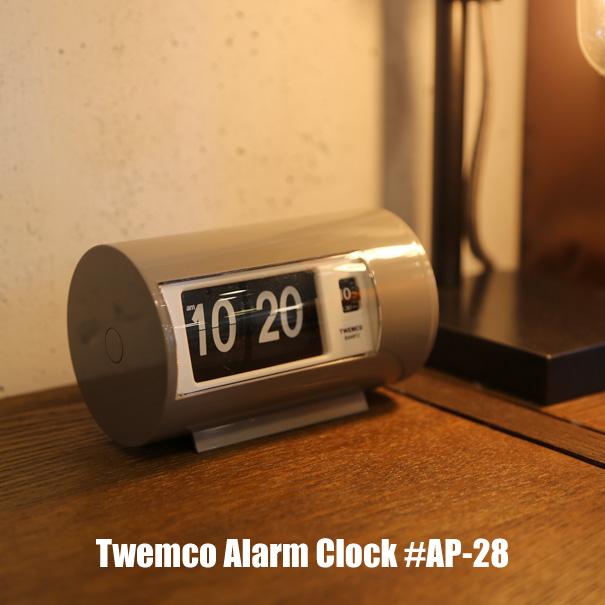 """【ポイント最大27倍!7日9:59まで】\キャッシュレス5%還元/ 時計 【送料無料】Twemco Alarm Clock #AP-28 """"Gray""""トゥエンコアラームクロック 置時計 目覚まし時計 クロック アメリカ フリップ パタパタ グレー おしゃれ プレゼント ギフト"""