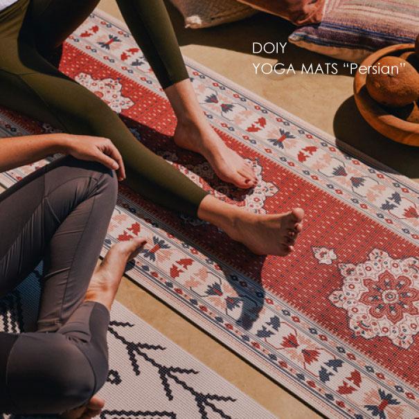 ヨガマット 柄 おしゃれ かわいい 折りたたみ 男性 女性 ユニセックス 訳あり商品 プレゼント ギフト ワンポイント ホワイト ペルシャ 激安通販ショッピング 絨毯 じゅうたん ヨガ レッド ケース付き ロール メンズ yoga DOIY YOGA グッズ レディース バンド MATS