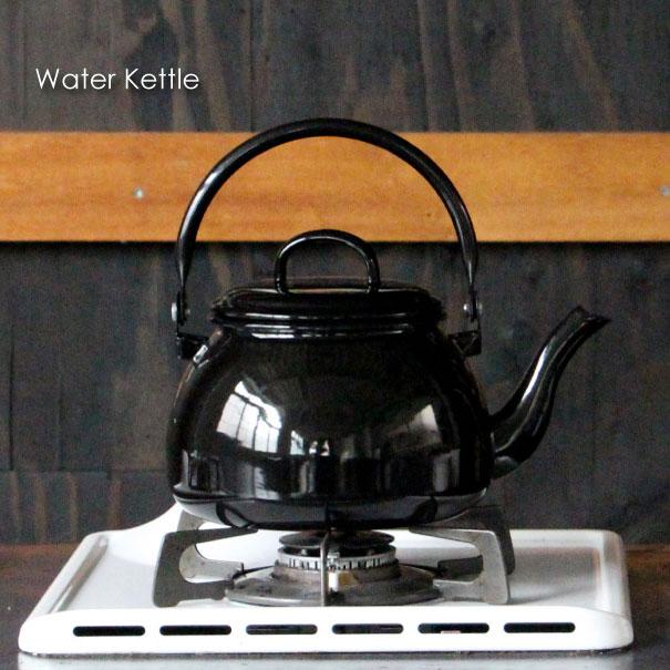 \キャッシュレス5%還元/ MUNDER Water Kettle ケトル ホーロー おしゃれ かわいい コーヒー ポット 細口 IH 直火 ブラック キャンプ 2.5リットル 大容量