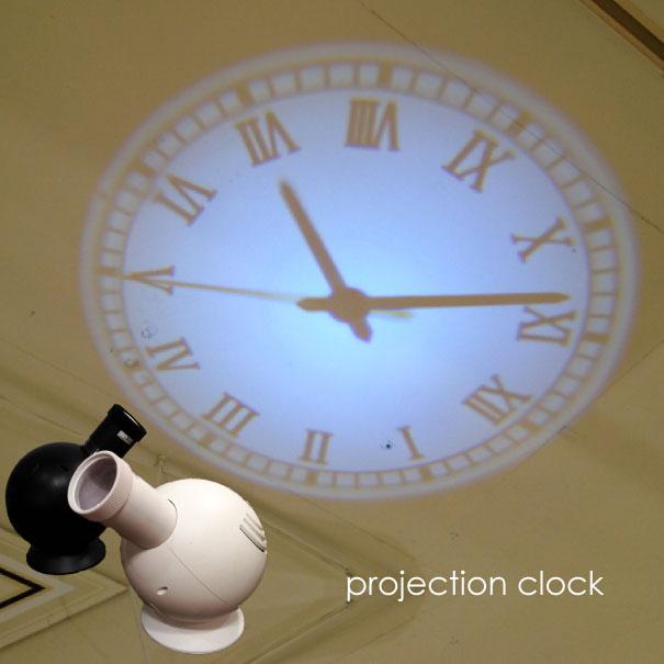 時計 掛け時計 掛時計 projection clock LED ロマン数字 アラビア数字 クラシック 黒 ブラック 白 ホワイト 映写 アナログ 置時計 プロジェクター オシャレ おしゃれ 天井 壁 ギフト プレゼント シンプル 新築祝い