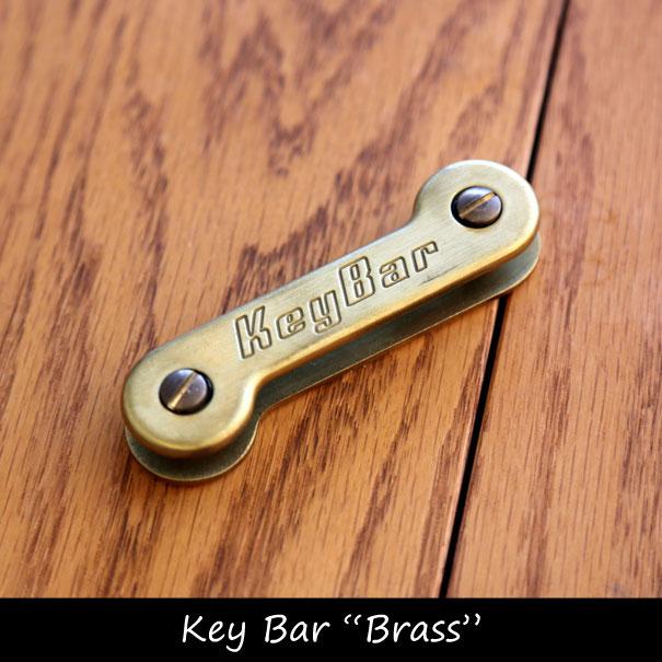"""【ポイント最大33倍!10日23:59まで】【送料無料】Key Bar """"Brass"""" キーホルダー キーオーガナイザー アメリカ ブラス 真鍮"""