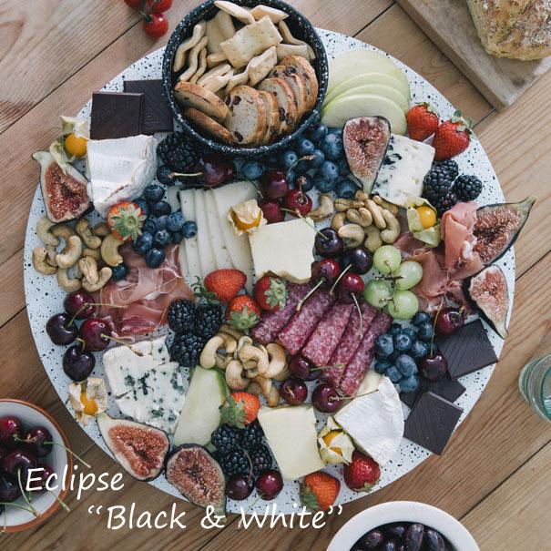"""【ポイント最大34倍!28日 1:59まで】\キャッシュレス5%還元/ doiy Eclipse """"Black & White"""" エクリプス""""ブラック&ホワイト"""" 食器 お皿 皿 大皿 パーティー おしゃれ 白 黒 セット"""