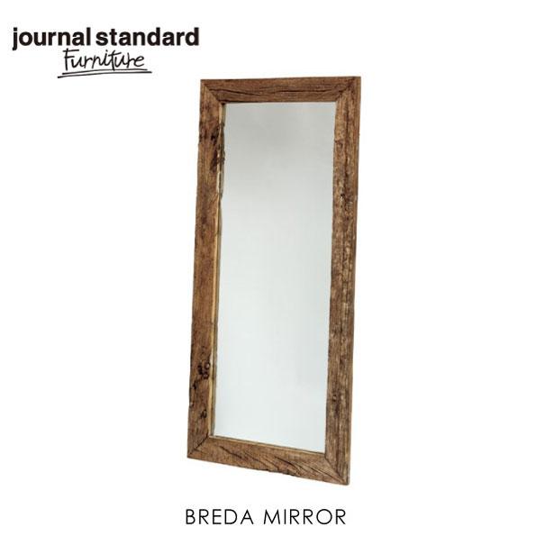 【ポイント最大27倍!7日9:59まで】\キャッシュレス5%還元/ journal standard Furniture ジャーナルスタンダードファニチャー BREDA MIRROR ミラー 壁掛け おしゃれ 木製 ウォールミラー 全身 大型 姿見 鏡
