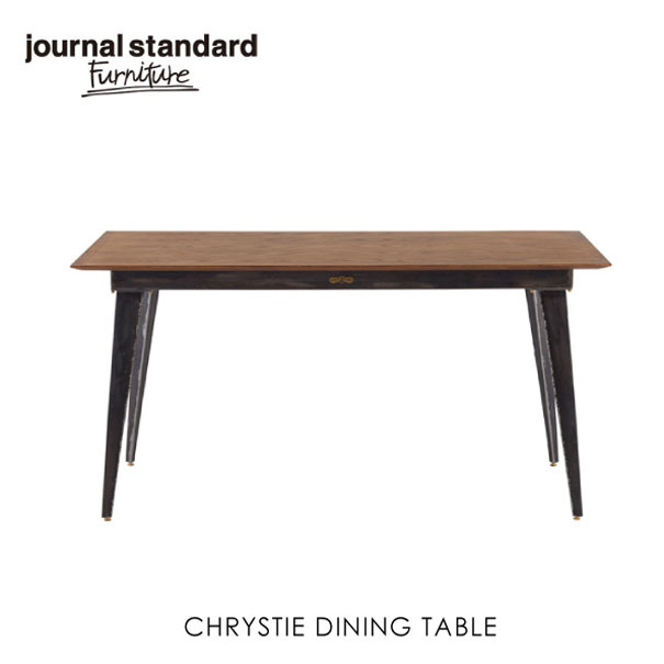 \キャッシュレス5%還元/ journal standard Furniture ジャーナルスタンダードファニチャー CHRYSTIE DINING TABLE クリスティ ダイニングテーブル ダイニングテーブル 150 家具 無垢 アイアン スチール 鉄おしゃれ 木製