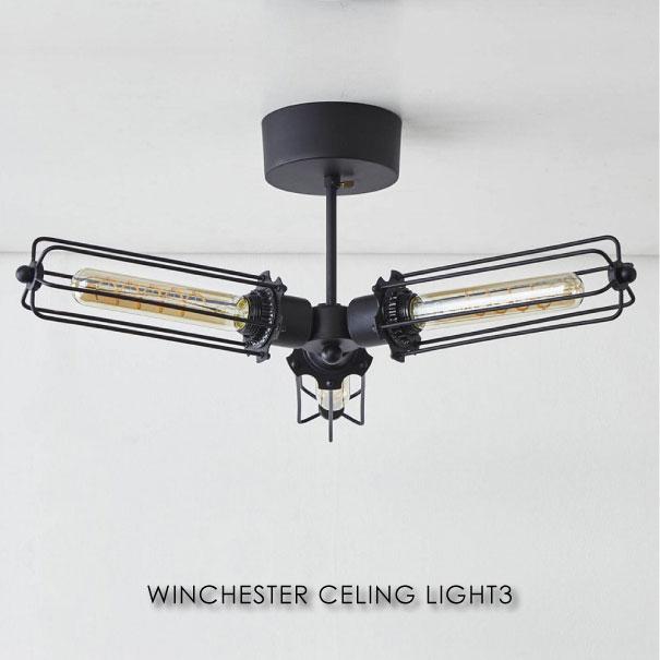 \キャッシュレス5%還元/ journal standard Furniture ジャーナルスタンダードファニチャー WINCHESTER CEILING LIGHT3 シーリングライト 4.5畳 6畳 8畳 10畳 LED 天井照明 おしゃれ アイアン 180W