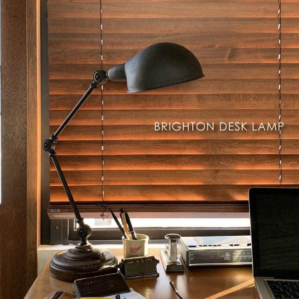 \キャッシュレス5%還元/ACME FURNITURE アクメファニチャー BRIGHTON DESK LAMP デスクライト 照明 北欧 ウッド ブラック アイアン 木製 おしゃれ アンティーク モダン コンセント付き コンパクト 60W LED対応 テーブルライト