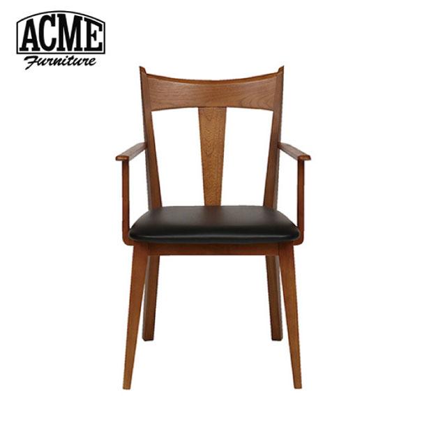 【ポイント最大27倍!7日9:59まで】\キャッシュレス5%還元/ 【送料無料】ACME FURNITURE アクメファニチャー CARDIFF ARM CHAIR カーディフ アームチェア 椅子 いす イス 無垢 ウッド 木製 背もたれ ブラック ビニールレザー アメリカン