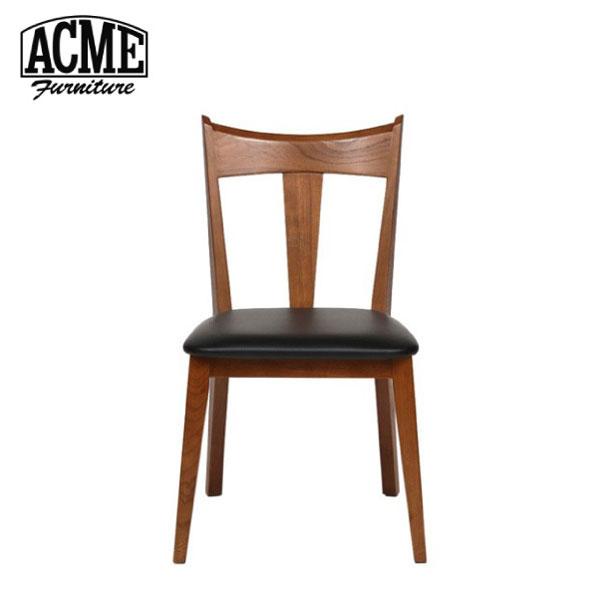 【ポイント最大33倍!16日1:59まで】【送料無料】ACME FURNITURE アクメファニチャー CARDIFF CHAIR カーディフ チェア 椅子 いす イス 無垢 ウッド 木製 背もたれ ブラック ビニールレザー アメリカン