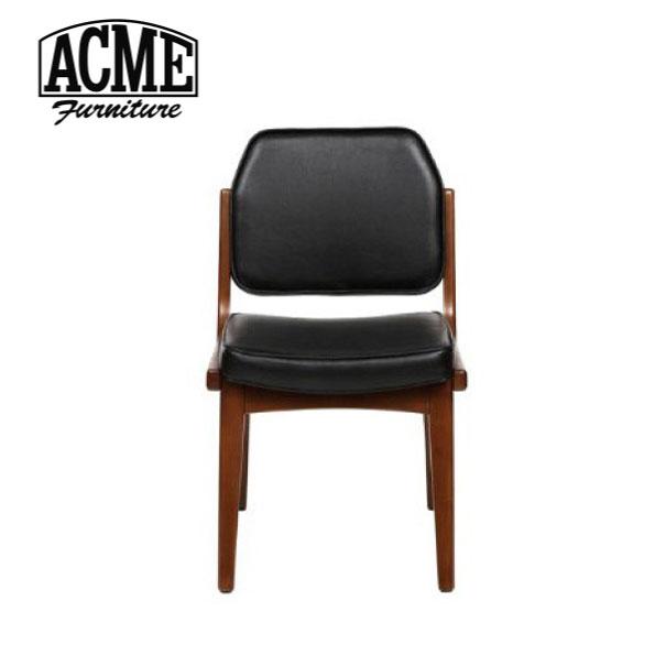 【ポイント最大33倍!16日1:59まで】【送料無料】ACME FURNITURE アクメファニチャー SIERRA CHAIR シエラ チェア 椅子 いす イス 無垢 ウッド 木製 背もたれ ブラック ビニールレザー アメリカン
