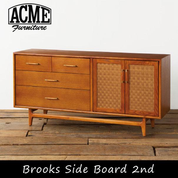 【ポイント最大32倍!9日 1:59まで】ACME FURNITURE アクメファニチャー BROOKS SIDE BOARD 2nd ブルックスサイドボード 収納 収納家具 引き出し サイドボード 無垢 ウッド 木製 アメリカン
