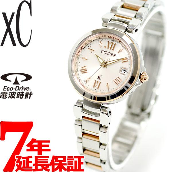 d03ae6191d シチズンクロスシーCITIZENXCエコドライブソーラー電波時計レディース腕時計HAPPYFLIGHTハッピーフライトEC1034-
