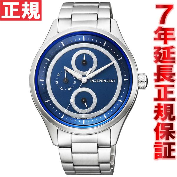 【お買い物マラソンは当店がお得♪本日20より!】インディペンデント INDEPENDENT ソーラー 腕時計 メンズ タイムレスライン ソーラーテック マルチカレンダー KB1-210-71