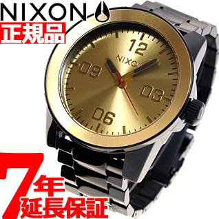 【お買い物マラソンは当店がお得♪本日20より!】ニクソン NIXON コーポラルSS CORPORAL SS 腕時計 メンズ ブラック/ゴールド NA346010-00