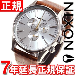 10%OFFクーポン!31日23:59まで! ニクソン NIXON セントリークロノレザー SENTRY CHRONO LEATHER 腕時計 メンズ クロノグラフ サドルゲーター NA4051888-00