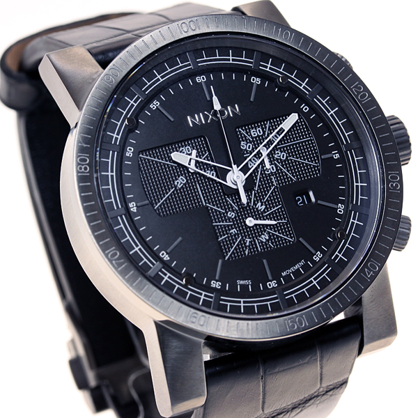 Nixon NIXON Magna con leather 2 MAGNACON LEATHER II watch mens chronograph black Gator NA4581886-00