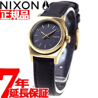 【お買い物マラソンは当店がお得♪本日20より!】ニクソン NIXON スモールタイムテラーレザー SMALL TIME TELLER LEATHER 腕時計 レディース ブラック/ゴールド NA509010-00
