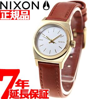 10%OFFクーポン!31日23:59まで! ニクソン NIXON スモールタイムテラーレザー SMALL TIME TELLER LEATHER 腕時計 レディース ライトゴールド/サドル NA5091976-00