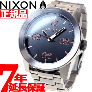 【SHOP OF THE YEAR 2018 受賞】ニクソン NIXON コーポラルSS CORPORAL SS 腕時計 メンズ グレイ/ローズゴールド NA3462064-00