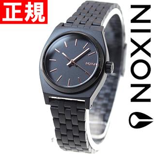 ニクソン NIXON スモールタイムテラー SMALL TIME TELLER 腕時計 レディース オールブラック/ローズゴールド NA399957-00