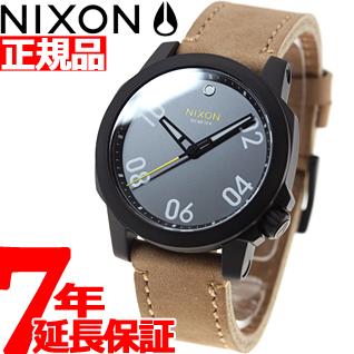 ニクソン NIXON レンジャー40レザー RANGER 40 LEATHER 腕時計 メンズ/レディース ブラック/ガンメタル/ナチュラル NA4712093-00