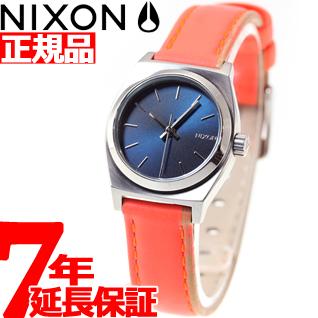 SMALL 腕時計 LEATHER NA5092077-00 スモールタイムテラーレザー TELLER TIME ネイビー/ブライトコーラル NIXON レディース ニクソン