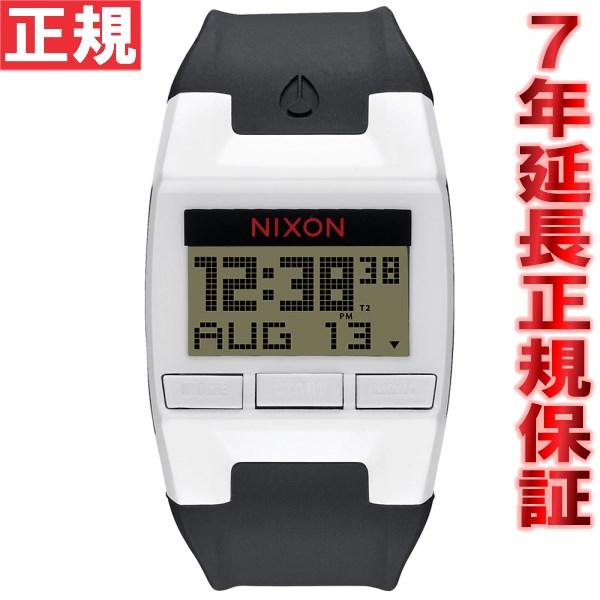 【お買い物マラソンは当店がお得♪本日20より!】ニクソン NIXON コンプ COMP 腕時計 メンズ/レディース ホワイト/ブラック デジタル NA408127-00